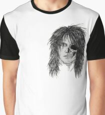 Izzy Zombie Skull Skeleton Face Classic Rock Musician Graphic T-Shirt