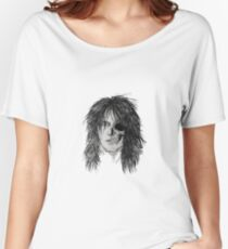 Izzy Zombie Skull Skeleton Face Classic Rock Musician Women's Relaxed Fit T-Shirt