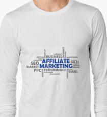 word cloud - affiliate marketing Long Sleeve T-Shirt