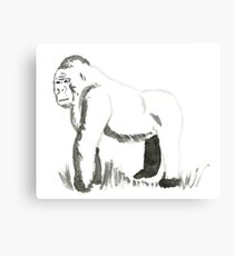 Sumi-E Gorilla (small) Canvas Print