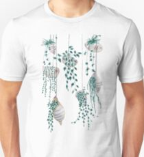 Hanging plants in seashells  Unisex T-Shirt