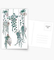 Hängende Pflanzen in Muscheln Postkarten