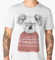 Winter koala (red) Men's Premium T-Shirt