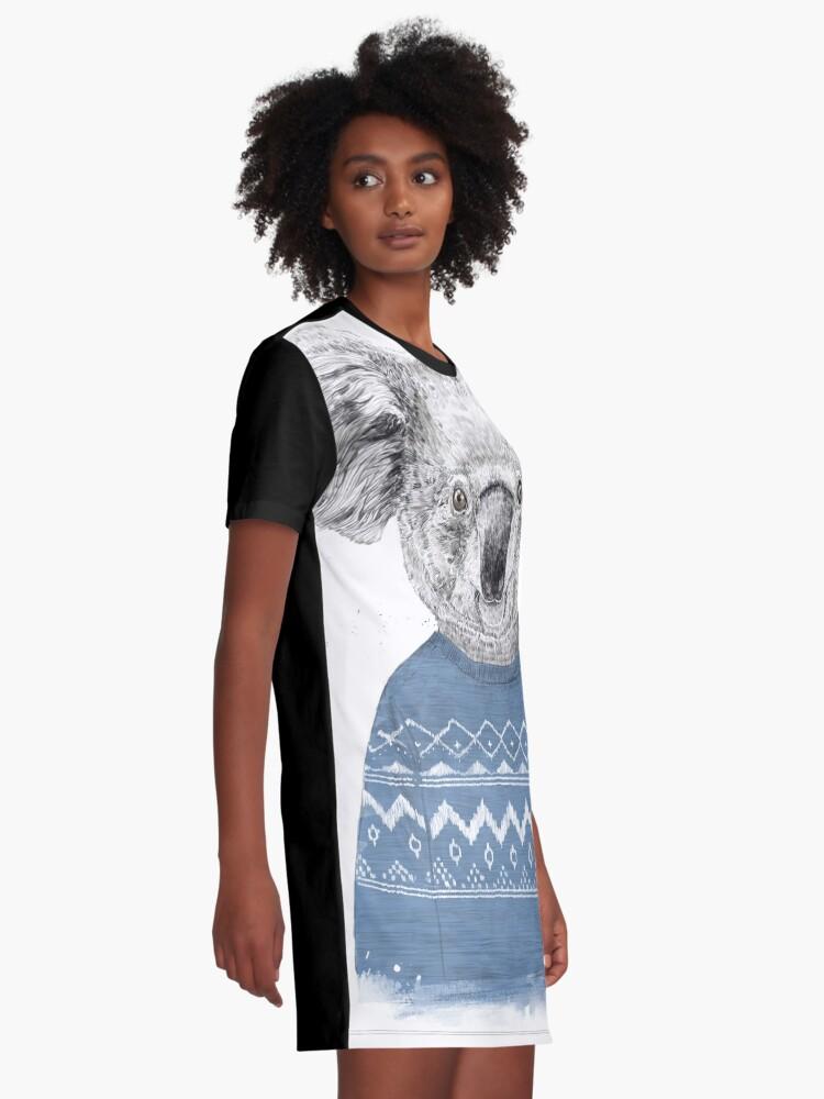 Alternate view of Winter koala Graphic T-Shirt Dress