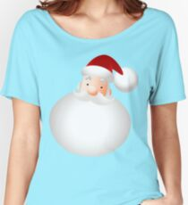 Emoticon Santa Claus Face Women's Relaxed Fit T-Shirt