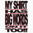 BIG WORDS BLK-RED by ROLO