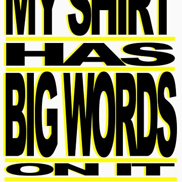BIG WORDS BLK-YELLOW by ROLO