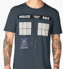 Classic Tardis Door Men's Premium T-Shirt