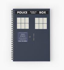 Classic Tardis Door Spiral Notebook