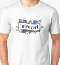 Camiseta unisex Introvertido