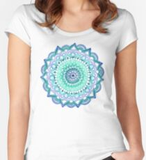 Deep Forest Flower Women's Fitted Scoop T-Shirt