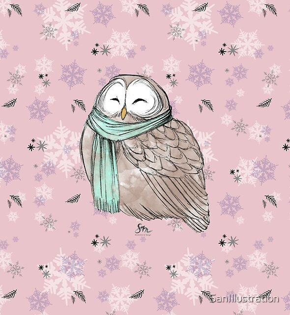 Cozy Owl by SanIllustration