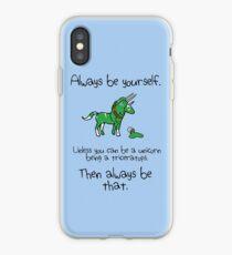 Sei immer ein Einhorn als Triceratops iPhone-Hülle & Cover