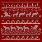 Ugly Christmas sweater dog edition - Siberian husky red by Camilla Mikaela Häggblom