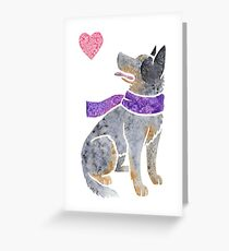Watercolour Australian Cattle Dog Greeting Card