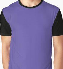 Han Purple Solid Color Graphic T-Shirt