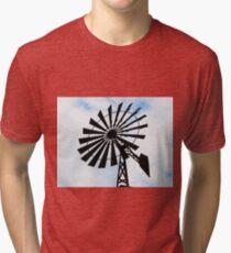 Windmill water tower Tri-blend T-Shirt