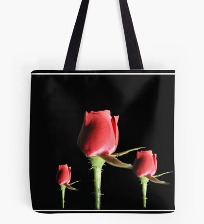 Red Roses With Frame Tote Bag