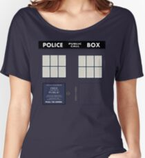 Classic Tardis Door Women's Relaxed Fit T-Shirt
