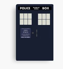 Classic Tardis Door Canvas Print