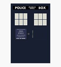 Classic Tardis Door Photographic Print