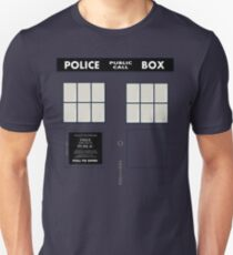 New Tardis Door Unisex T-Shirt