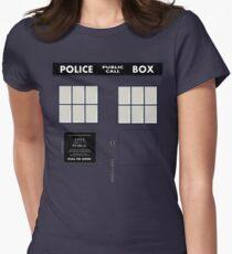 New Tardis Door Women's Fitted T-Shirt
