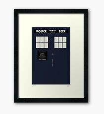 New Tardis Door Framed Print