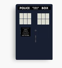 New Tardis Door Canvas Print