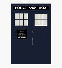 New Tardis Door Photographic Print
