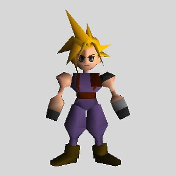 Cloud Low Poly - Final Fantasy 7 by sheakennedy