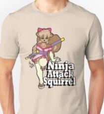 Ninja Attack Squirrel 2 Unisex T-Shirt