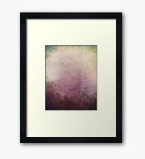 Grungy purple abstract background Framed Print