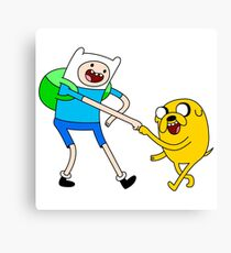 Fist Bump In Adventure Time Canvas Print