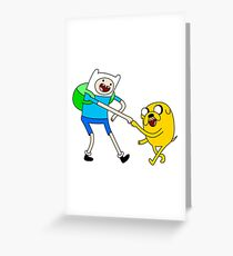 Fist Bump In Adventure Time Greeting Card
