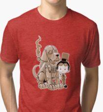A Victorian boy and his dog Tri-blend T-Shirt