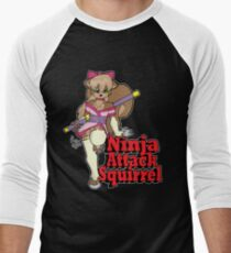 Ninja Attack Squirrel 2 (dark) Men's Baseball ¾ T-Shirt