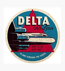 Vintage Delta Airlines USA Photographic Print