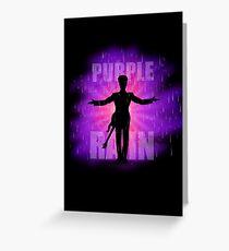 Prince In Purple Rain Greeting Card