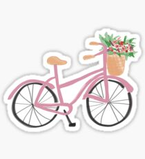 Blush Pink Bicycle Sticker
