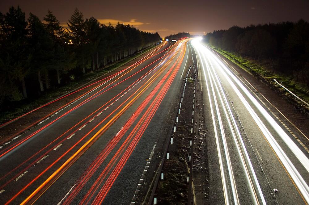 Motorway Light Trails by gedo