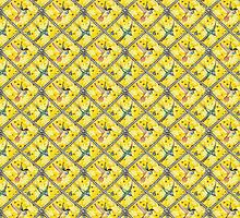 Wallpaper pattern design Bling Birds 5 Edouard Artus by Edouard Artus