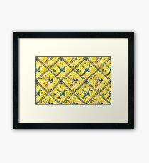 Wallpaper pattern design Bling Birds 5 Edouard Artus Framed Print
