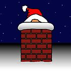 Santa got stuck up the Chimney by Yampimon