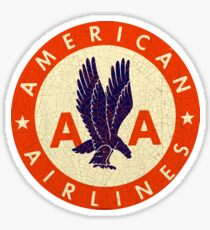 American Airlines USA Sticker