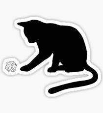 D20 Cat Sticker