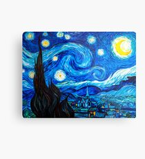 Starry Night Leggings and Gifts - Vincent Van Gogh Painting Metal Print