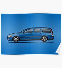 Sonic Blue Volvo V70 R P2 Poster