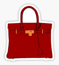 The Hermes Red Birkin  Sticker