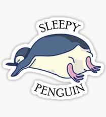 Sleepy penguin Sticker